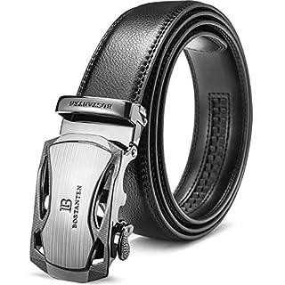 BOSTANTEN Men's Leather Ratchet Dress Belt with Automatic Sliding Buckle (B06XWNHN1K) | Amazon price tracker / tracking, Amazon price history charts, Amazon price watches, Amazon price drop alerts