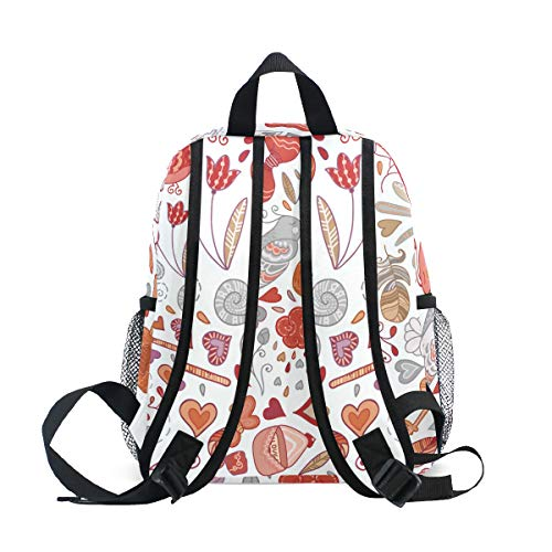 Chic Houses Creative Animal Series Mini Casual Packback Cute Bird Flower Fresh Style Decorative Pattern Toddler Bookbag School Bag for 3-8 Years Old Boys Girls Kids Preschool Backpack 2030111