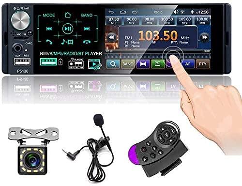 4 '' Autoradio Bluetooth Radio Touch screen capacitivo singolo Din da FM / AM / RDS Doppia USB,AUX,SD / TF Telecamera posteriore Telecomando al volante Con microfono esterno uscita audio subwoofer