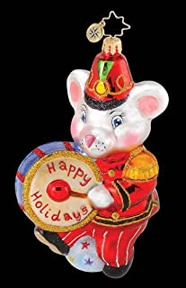 Radko MARCHING MAXWELL Circus Mouse with Drum Ornament