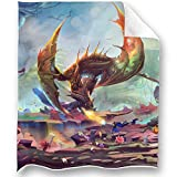 Loong Design Dragon Throw Blanket Soft Fluffy Premium Sherpa Fleece Blanket 50'' x 60'' Fit for Sofa Chair Bed Office Travelling Camping Gift