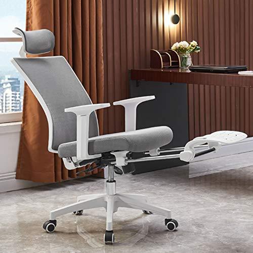 Bürostühle Ergonomischer Computerstuhl mit hoher Rückenlehne, Kopfstütze und Armlehne, drehbarer Drehstuhl mit 120 ° Liege- und Schaukelgitter, für Besprechungsräume, Zuhause Ergonomischer stuhl