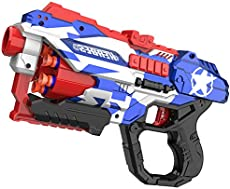 okk Blaster Toy for Boys, Portable Toy Blaster with 60 PCS Refill Soft Foam Darts and Portable Competitive Shooting Target for Kids Birthday Gifts Party Favors Hand Toys for 6 7 8 Year Old and Up