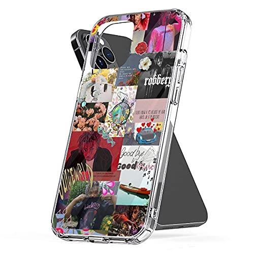 REDPEONY Phone Case Compatible with iPhone 8 X 12 11 2020 7 Se 6 Xr Juice 6s Wrld Plus Collage Xs Pro Max Mini Collage Jumbo Combine Media Mixed Photo