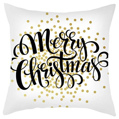 Lilicat Kissenbezüge 45x45 cm Qualitäts Kissenhüllen in Segeltuch mit Geometrischen Mustern für Sofa Auto Terrasse Zierkissenbezüge Baumwolle Leinen Weihnachten Kissenbezug
