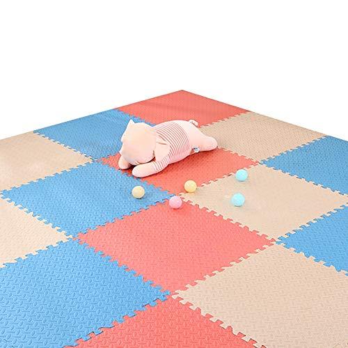 XJJUN Sol Enfant Et Bébé en Mousse , Gym Mat Floor Protection Baby Crawling Mat Living Room Yoga Non-Slip Rubber Mat Color Free Stitching (Color : G, Size : 30pcs)