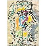 Shmjql Pinturas Abstractas De La Lona del Arte De Pablo Picasso En Los Carteles E Impresiones del Arte De La Pared Cuadro De La Lona del Arte De Picasso para La Sala De Estar-40X60Cmx1 Sin Marco