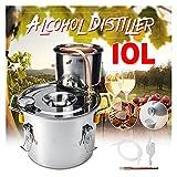 Kit de fabricación de vinos Eficiente 2GAL / 10L Destiller Lunshine Alcohol Distiller Copos inoxidable BRICOLAJE Home Water Wine Essential Oil Brewing Kit para la cerveza de cerveza (Size : 6L)