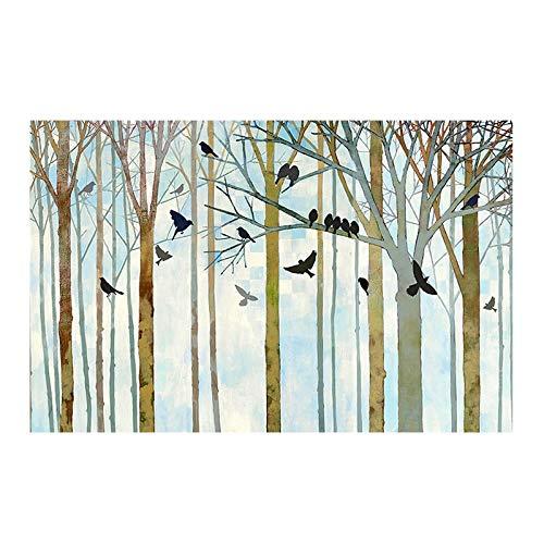 SILYHN Gemalte Abstrakte Bäume Kunst Handgemaltes Ölgemälde Auf Leinwand Wandkunst Rahmenlose Bild Dekoration Für Live Room Home Decor Geschenk (85X120 cm) 34X48 Zoll B