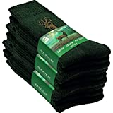 GAWILO 9 Paar stabile Army - Jäger - Freizeit Socken aus strapazierfähiger Baumwolle (43-46, grün)