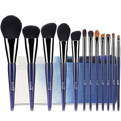 Maquillage Set Brush 12 Pcs Fibre Professionnelle Outils De Maquillage Mixte Fondation Ombre À Paupières Blush Brosse Sac À Cosmétiques