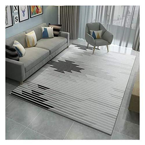 laagpolig designer tapijt Home woonkamer tapijt met contour cut strepen vierkant bladeren patroon geschikt voor vloerverwarming slaapkamer hal (kleur: 17, maat: 140 * 200cm)