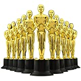 6' Gold Award Trophies - Pack of 12 Bulk Golden Statues, Oscar Party Award Trophy, Party Decorations and Appreciation Gifts by Bedwina