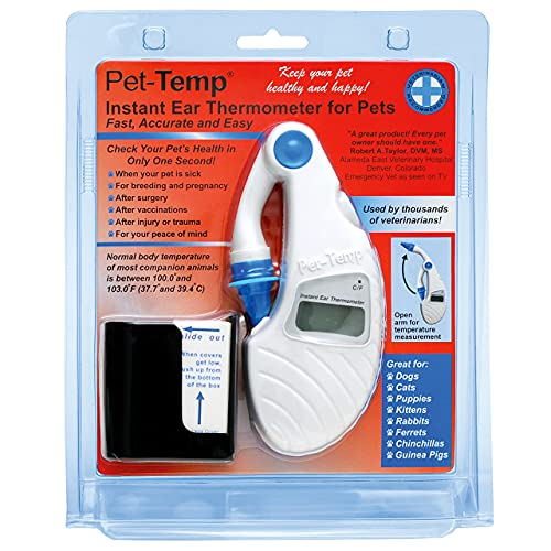 Advanced Monitors PT-300 Pet-Temp Ear Thermometer for Dogs and Cats. Know When to Take Your Pet to the Vet!