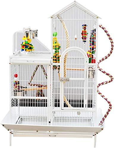 Gabbia per uccelli durevole e rispettosa dell'ambi Gabbia di volo per parrocchetti gabbie del parrocchetto per 2 uccelli, gabbia di lusso di casa di lusso, cabina di pavimentazione su larga scala gabb