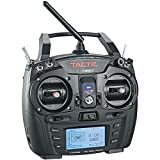 Tactic TTX660 2.4Ghz 6-Channel SLT Digital Computer Radio Transmitter for RC Aircraft (TX Only), Black