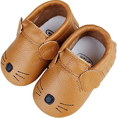 Lvptsh Krabbelschuhe Leder Baby Lauflernschuhe Jungen Mädchen Kleinkind Hausschuhe Weicher Babyschuhe Baby Mokassins Rutschfesten