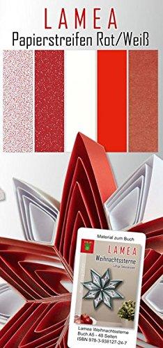 LAMEA Papierstreifen Rot/Weiß für Weihnachten: Papier für Buch: LAMEA Weihnachtssterne, LAMEA Weihnachten (Paper Frog DEKO)