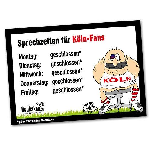 Büro-Abwehrschild Köln | Schützt den Arbeitsplatz von Fortuna Düsseldorf-, Borussia M'Gladbach- & Allen Fußball-Fans vor verirrten Kölnern |Öffnungszeiten Sprechzeiten-, Eingangs- & Tür-Schild