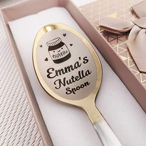 Nutella Löffel – Löffel mit Gravur mit Namen – Nutella spoon - Liebhaber für Geburtstag – Lustiges Geschenk – Nutella Geschenk in Geschenkbox