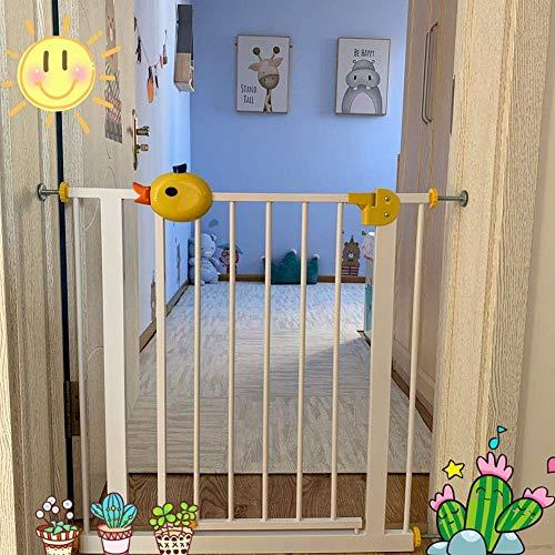 Puerta para Mascotas Whall Saver Baby Walk-Thru Gates para Puerta de Entrada Pasillo, Puerta de Escalera de Metal Blanco para Mascotas para Perros Gatos, Ancho Opcional 75-194cm (tamaño: 105