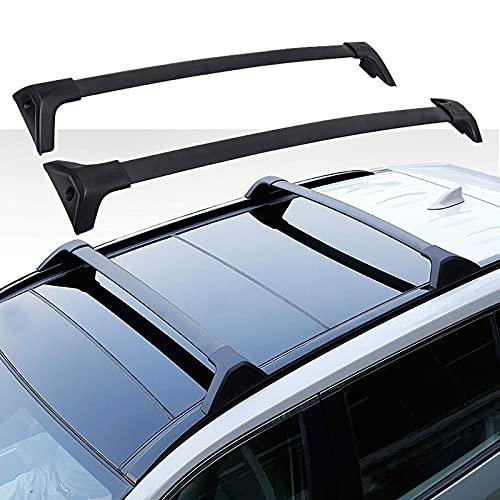 SFSGH Barra Transversal para portaequipajes, para Toyota RAV4 2020, aleación de Aluminio/sin Necesidad de perforar, Carga 440 LB, Accesorios de Estilo de Coche, Negro