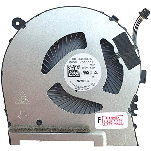 Fan Cooler CPU Version Compatible with HP Omen 15-dh RTX 2070, 15-dh RTX 2070 Max-Q, 15-dh RTX 2070 Super Max-Q