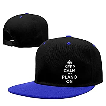 Keep Calm And Plan B On Two-Toned Snapback Hats One Size RoyalBlue