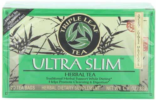 Triple Leaf Tea, Ultra Slim, 20 Tea Bags (Pack of 6)