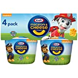 Kraft Macaroni & Cheese Easy Microwavable Dinner with Nickelodeon Paw Patrol Pasta Shapes (4 ct Pack, 1.9 oz Cups)