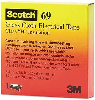 Scotch Glass Cloth Electrical Tapes 69-69 3/4x66 scotch glass cloth tape