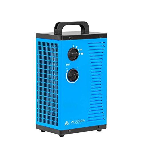 ALLEGRA Heizstrahler Heizlüfter 2Kw 2000 Watt Zeltheizung energiesparend Radiator Elektroheizung Elektroheizer Bauheizer Elektrisch Heizung H22 mit Thermostat…