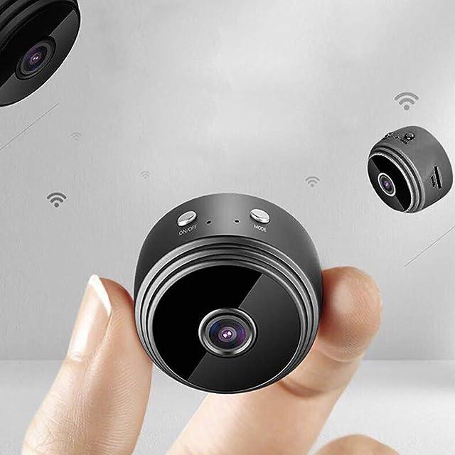 KEISL Cámara A9 WiFiCámar 1080P HD Mini WiFi Cámara Portátil Interior/Hogar Cámara IP de Seguridad/Visión Nocturna por Infrar Rojos Vigilancia Movimiento de Android Phone/iPad/PC