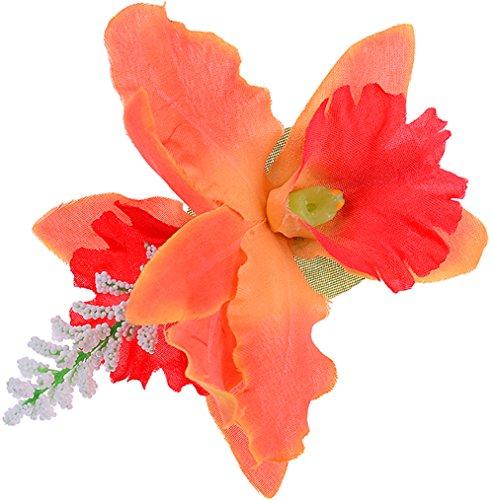 Unbekannt Edle Tiki ORCHIDEEN Blüten Flower Haarspange Rockabilly Haarschmuck