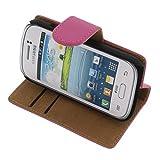 foto-kontor Funda para Samsung Galaxy Young 2 Estilo Libro Rosa Protectora