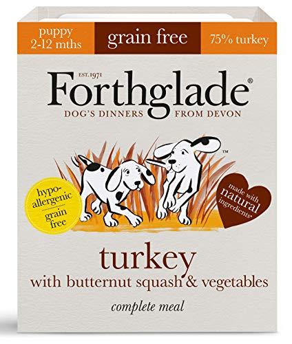 Forthglade Natural Puppy Grain Free Complete Wet Dog Food Turkey, Butternut Squash & Veg 395 g (Pack of 18)