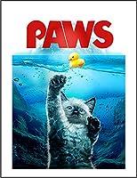 【満月の下で泳ぐシャム 猫 ねこ】 余白部分にオリジナルメッセージお入れします!ポストカード・はがき(白背景)