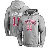 Sudadera con capucha de baloncesto y de Isiah Thomas # 11 Detroit Pistons mujeres de los hombres - sudadera con capucha de baloncesto suelta la camiseta (Color : A, Size : 2XL)