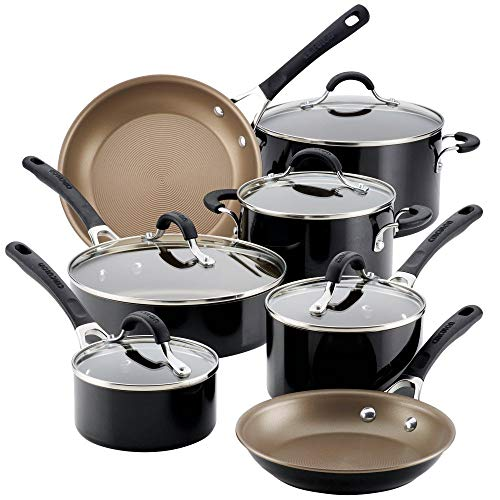 Circulon Innovatum Aluminum Nonstick Cookware Set (12-Piece, Black)
