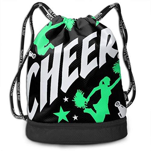 Rucksäcke,Sporttaschen,Turnbeutel,Daypacks, Gym Drawstring Sports Bag Simple Quick Dry Bundle Backpack Cheerleader