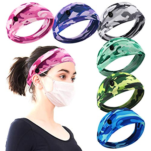 (30% OFF) 6pcs Non Slip Headbands W/ Buttons for Masks $9.79 – Coupon Code