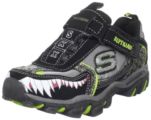 Skechers Reptilian Kleinkind Jungen Schwarz Turnschuhe Schuhe Neu