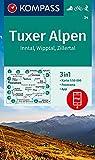 KOMPASS Wanderkarte Tuxer Alpen, Inntal, Wipptal, Zillertal: 3in1 Wanderkarte 1:50000 mit Panorama, inklusive Karte zur offline Verwendung in der ... Skitouren. (KOMPASS-Wanderkarten, Band 34)