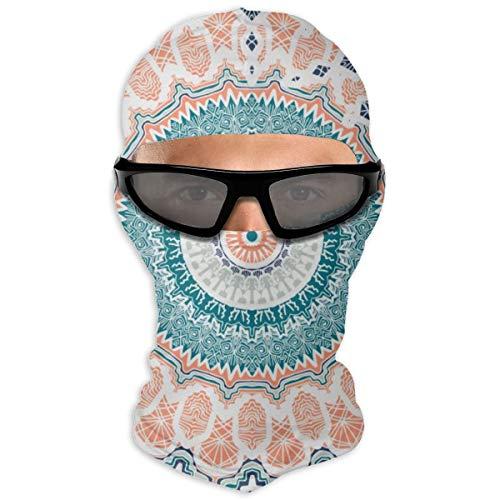 N/Een volledig gezichtsmasker hand getekend Mandala Magic Vintage sjabloon van groet kap zonnebrandcrème masker dubbele laag koud voor mannen en vrouwen