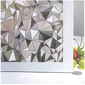 Niviy 3D No Glue Stati Cling Window Films Privacy Cut Glass Window Sticker for Bathroom Office Kitchen Window Decor 17.7 x 78.7
