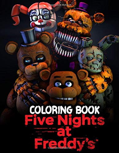 Five Nights At Freddy's Coloring Book: Freddy Fazbear's Pizza Jumbo Coloring Books For Kids And Adults
