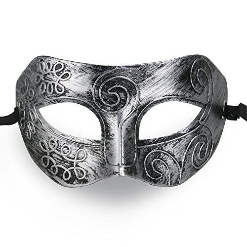 LUOEM Masquerade Face Mask Cool Men Greek Roman...