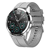 Rvlaugoaa Bluetooth Llamada Smartwatch Rastreador De Fitness Deportes Reloj Inteligente Mensaje Recordatorio Música 1.3 Pulgadas HD Full Touch Impermeable Smartwatch para Teléfonos iPhone/Android,C