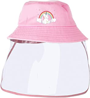 Unicorn Kids Bucket Hat with Removable Full Shield...