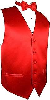 Solid Dress Vest & Bow Tie Set for Suit or Tuxedo